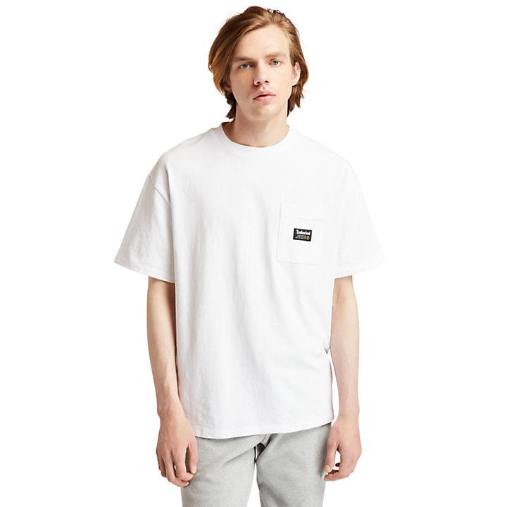 T-shirt da Uomo con Grafica 1973 sul Retro in bianco-