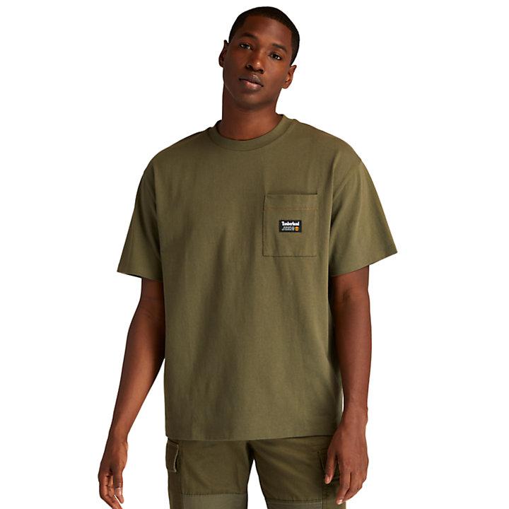 1973 T-Shirt mit Grafik am Rücken für Herren in Dunkelgrün-