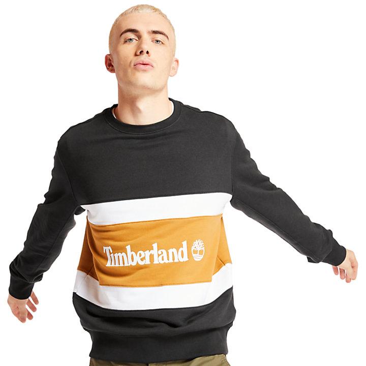 Colourblock Sweatshirt for Men in Black-