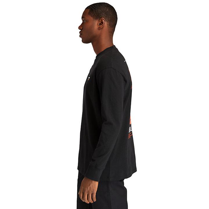 Camiseta de Manga Larga de hombre en negro-