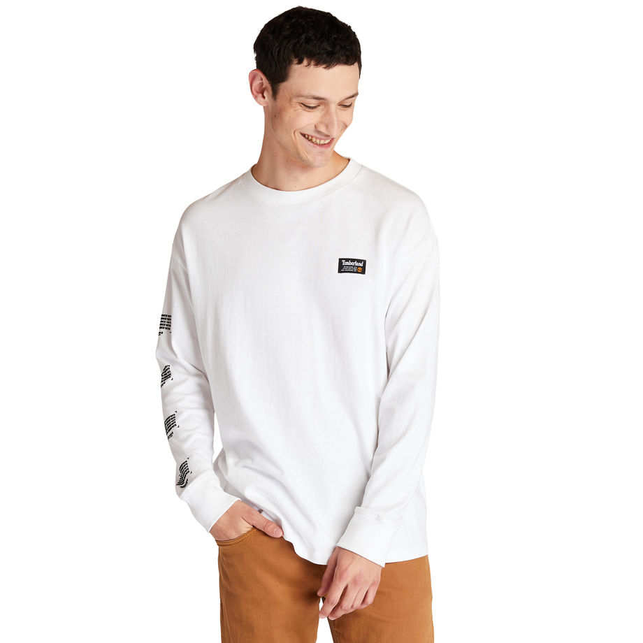 T-shirt À Manches Longues Et Imprimé Graphique Au Dos En , Taille 3XL - Timberland - Modalova