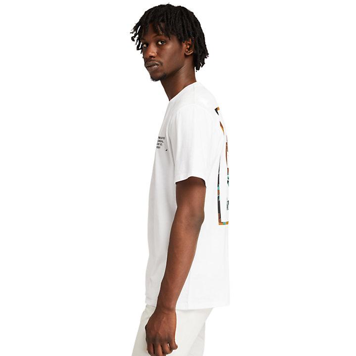 T-shirt à logo camouflage pour homme en blanc-