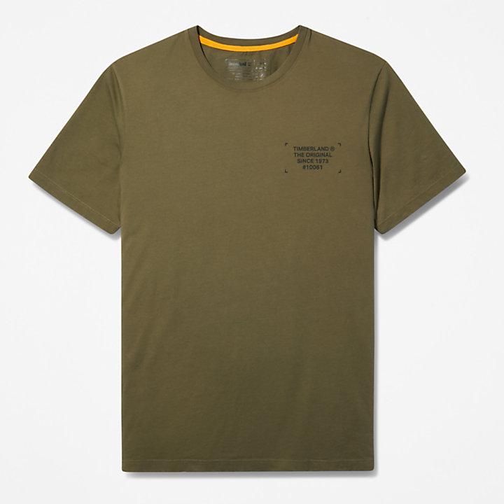 Camo-print Logo T-Shirt for Men in Dark Green-