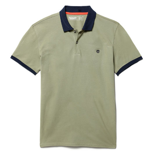 Millers River Print Polo Shirt for Men in Green | Timberland