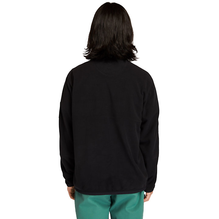 Half-zip Fleece Jacket for Men in Black-