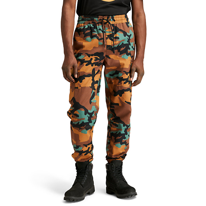 Cargo Jogger Trousers for Men in Camo-