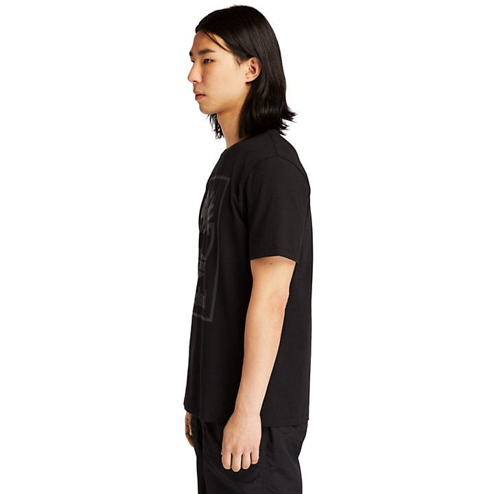 Camiseta con Logotipo Gráfico de Árbol para Hombre en color negro-