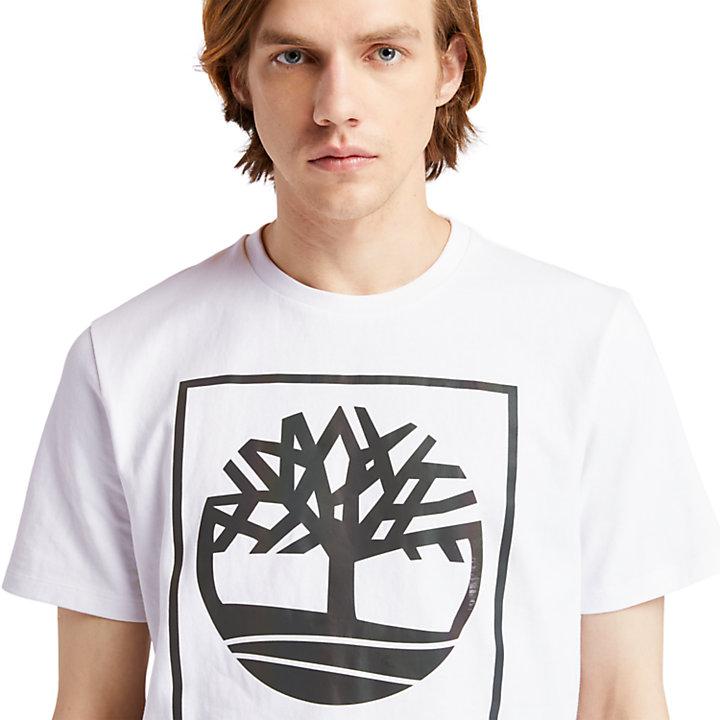 Graphic Tree-Logo T-Shirt for Men in White-