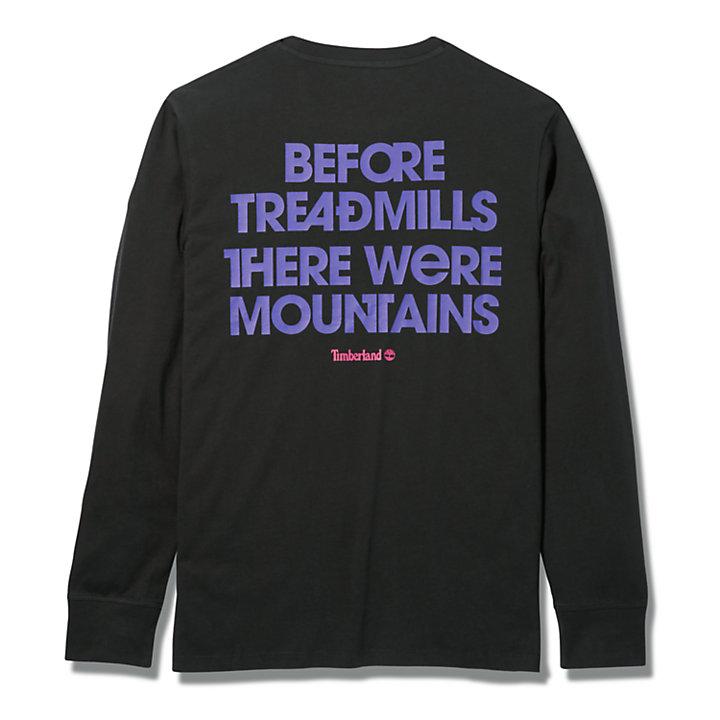 T-shirt à manches longues et motif Outdoor Archive pour homme en noir-