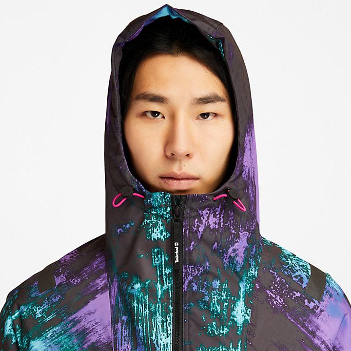 Chubasquero Northern Lights para Hombre con estampado de aurora boreal-