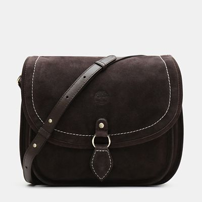Magnolia+Harbor+Saddle+Bag+for+Women+in+Dark+Brown