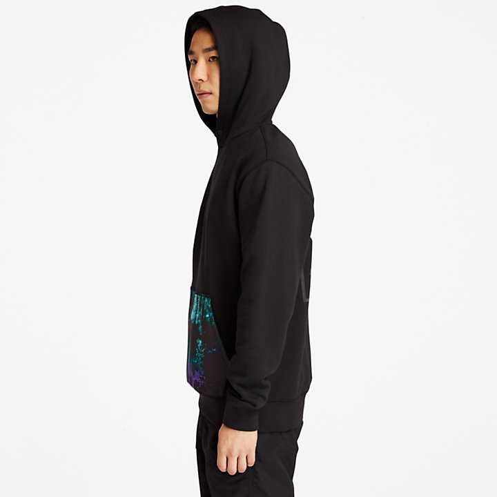 NL Sky Hoodie for Men with Aurora Print-