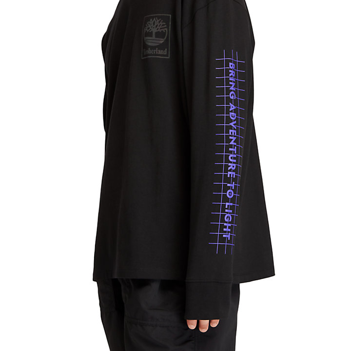 Camiseta con Estampado Gráfico LS NL Sky para Hombre en color negro-