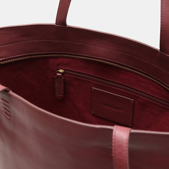 Rosecliff Tote Bag for Women in Burgundy-
