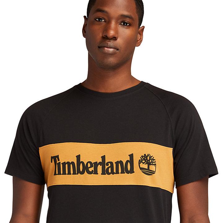 T-shirt coupé-cousu pour homme en noir-