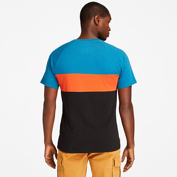 Cut-and-Sew T-Shirt für Herren in Petrol-