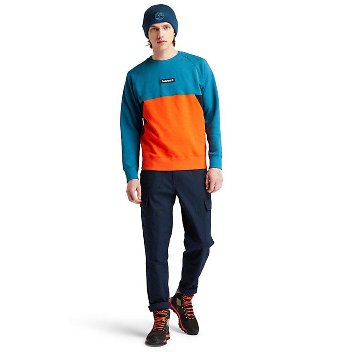Sudadera con costuras para hombre en azul verdoso-