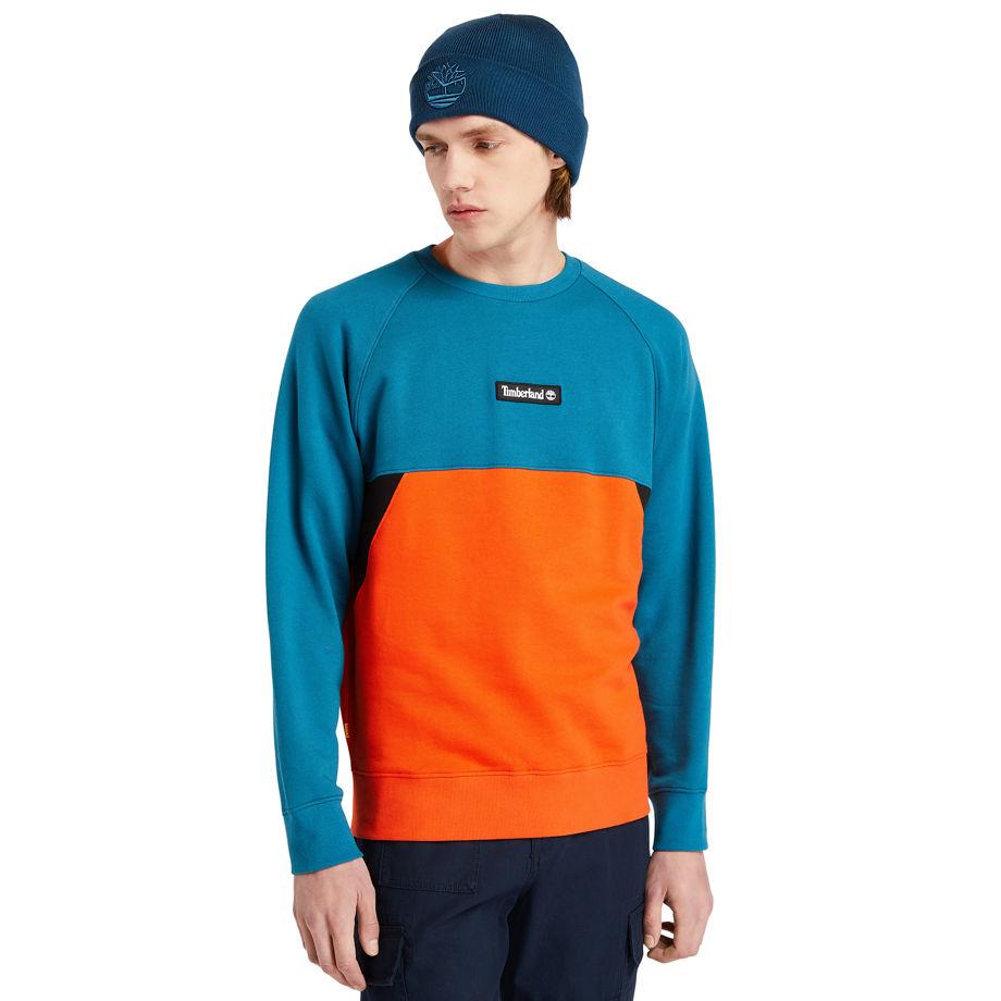Sweat-shirt À Empiècements En Bleu Sarcelle Bleu Sarcelle, Taille 3XL - Timberland - Modalova
