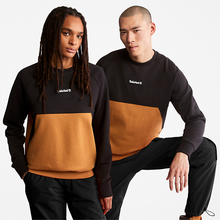 Sudadera con costuras para hombre en negra-