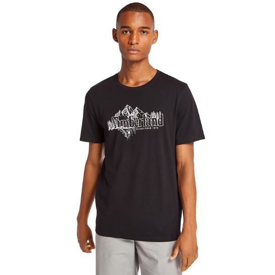 Linear Mountain T-Shirt für Herren in Schwarz | Timberland