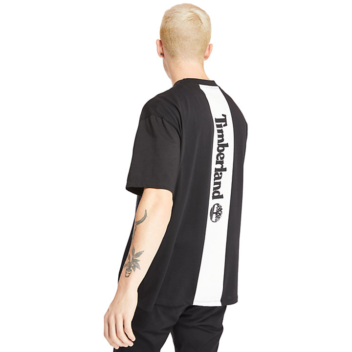 T-shirt da Uomo Inspired Back Linear in colore nero-