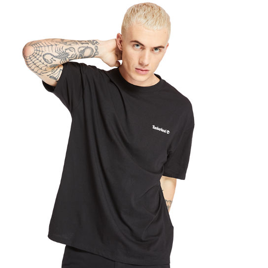 T-shirt da Uomo Inspired Back Linear in colore nero | Timberland