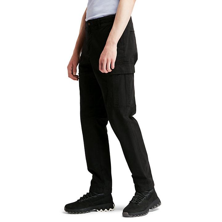 Pantalon cargo en sergé Core pour homme en noir-