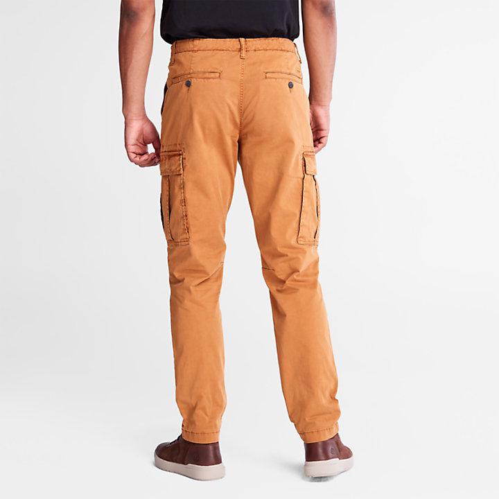 Pantaloni Cargo da Uomo in Twill Core in giallo-