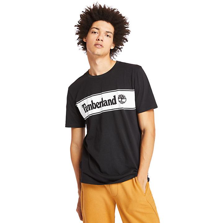 Linear Logo T-Shirt for Men in Black-