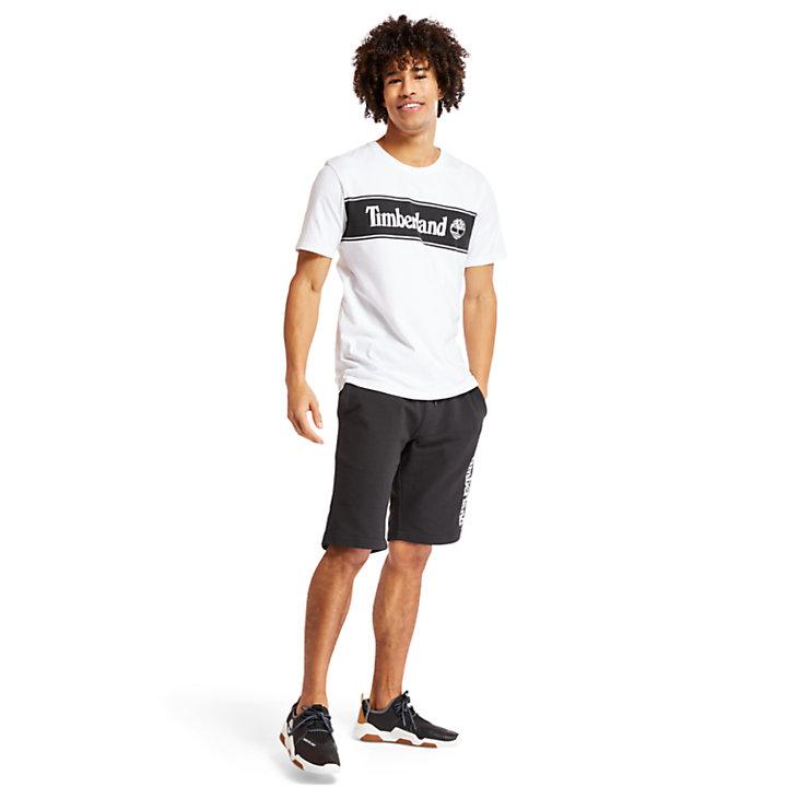 Linear Logo T-shirt voor Heren in wit-