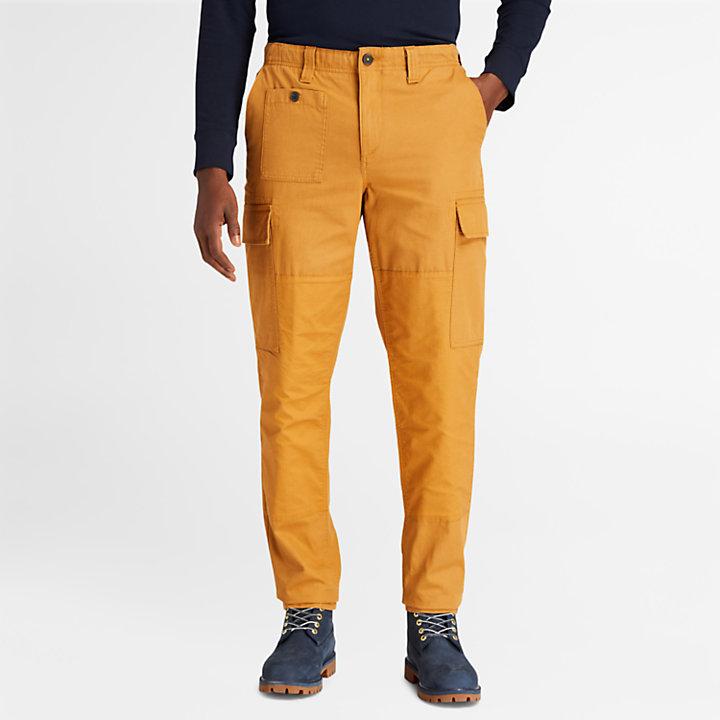 Pantaloni Cargo da Uomo Utility in giallo-