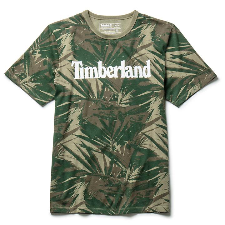 Linear Camo T-shirt voor Heren in donkergroen-