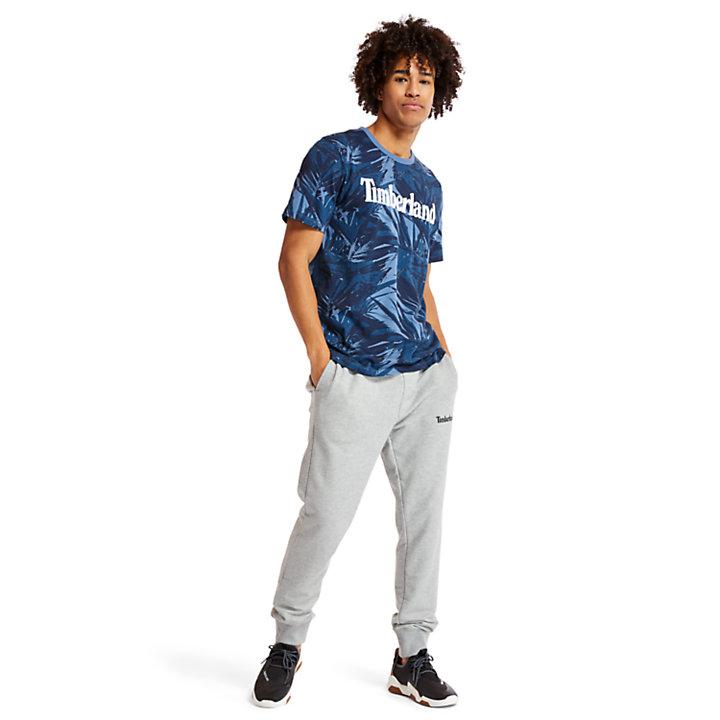 T-shirt Linear Camo pour homme en bleu-
