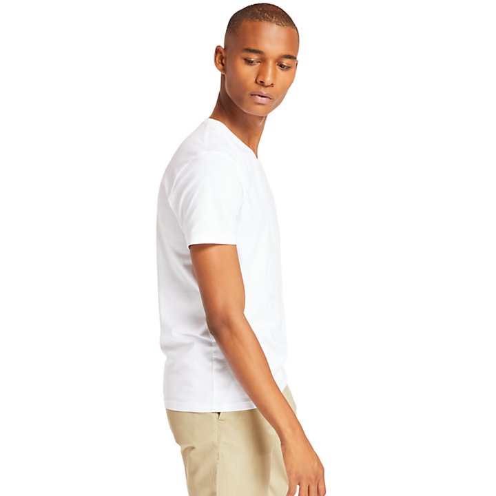 V-Neck T-Shirt for Men in White-