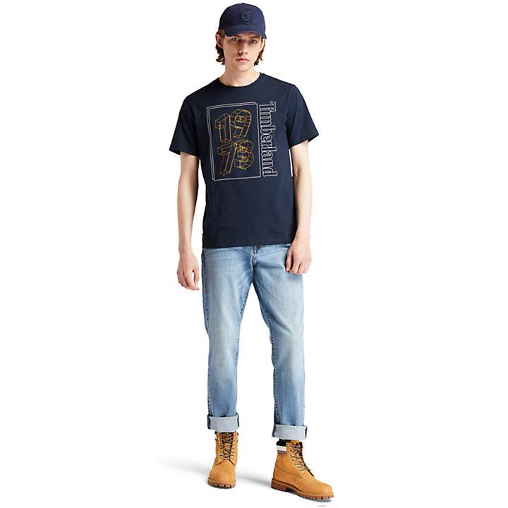 Komfortjeans für Herren mit schmal zulaufendem Bein in Hellblau-