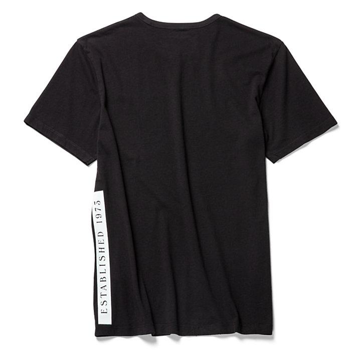 Camiseta Established 1973 para Hombre en color negro-