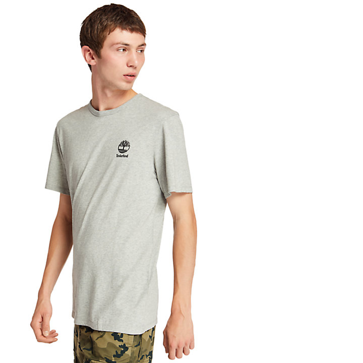 Rectangle Graphic T-Shirt for Men in Grey-