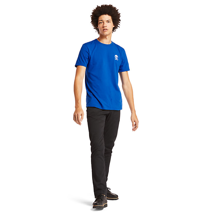 Rectangle Graphic T-Shirt for Men in Blue-