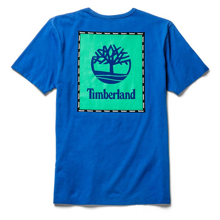 T-shirt met Grafische Print voor Heren in blauw-
