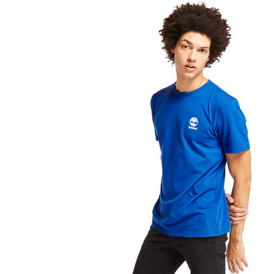 Rectangle Graphic T-Shirt for Men in Blue | Timberland