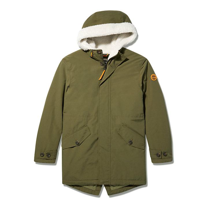 Mount Kelsey Fishtail Parka for Men in Dark Green-