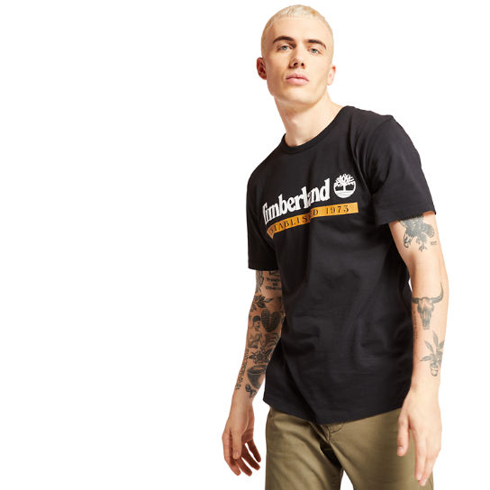 Timberland® 1973 T-Shirt for Men in Black | Timberland