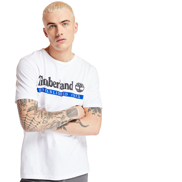 Timberland® 1973 T-shirt voor Heren in wit-