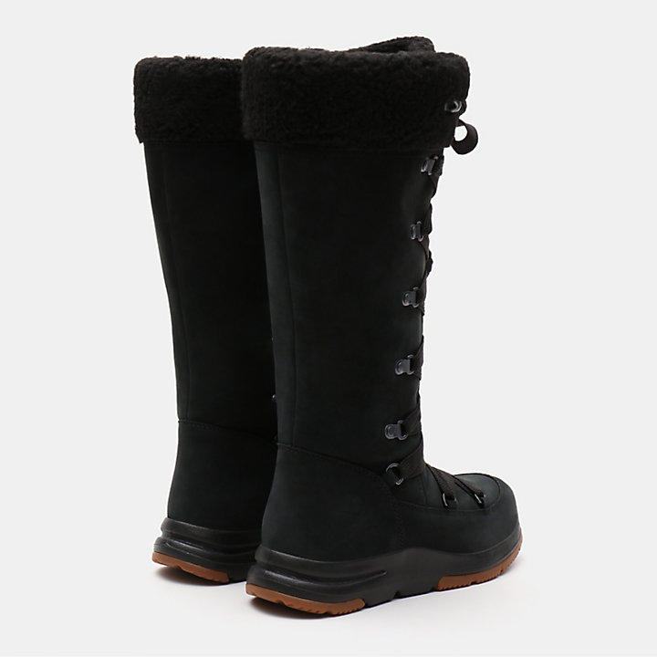 Mabel Town Mukluk Boot for Women in Black-
