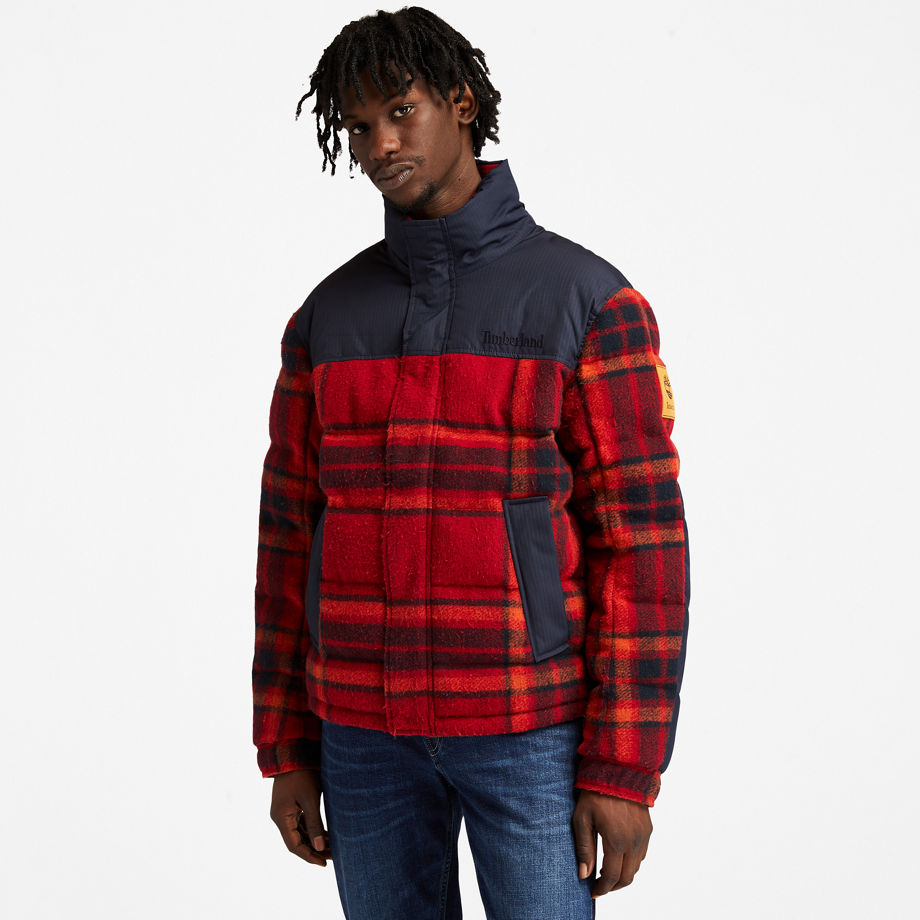 Timberland Welch Mountain Ultimate Puffer Jacket For Men In Red Red, Size L
