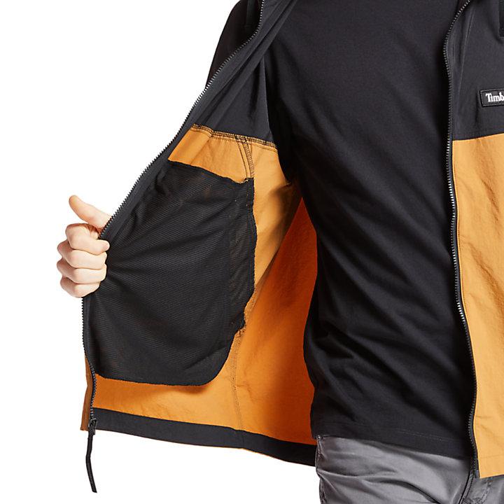 Full-Zip Windbreaker for Men in Black-