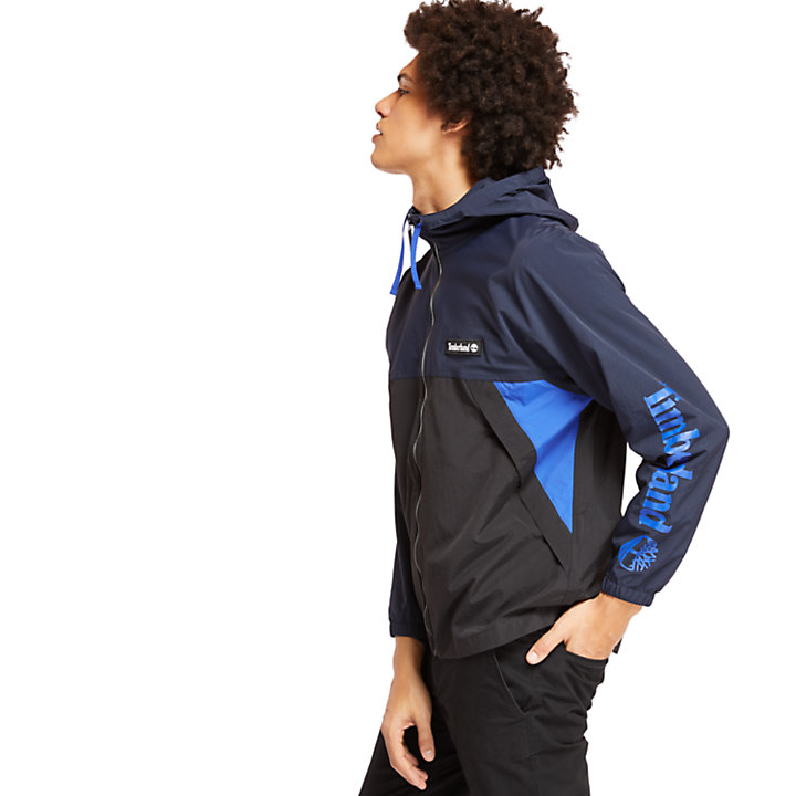 Full-Zip Windbreaker for Men in Navy-