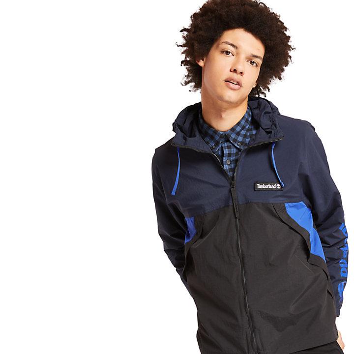 Coupe-vent zippé pour homme en bleu marine-