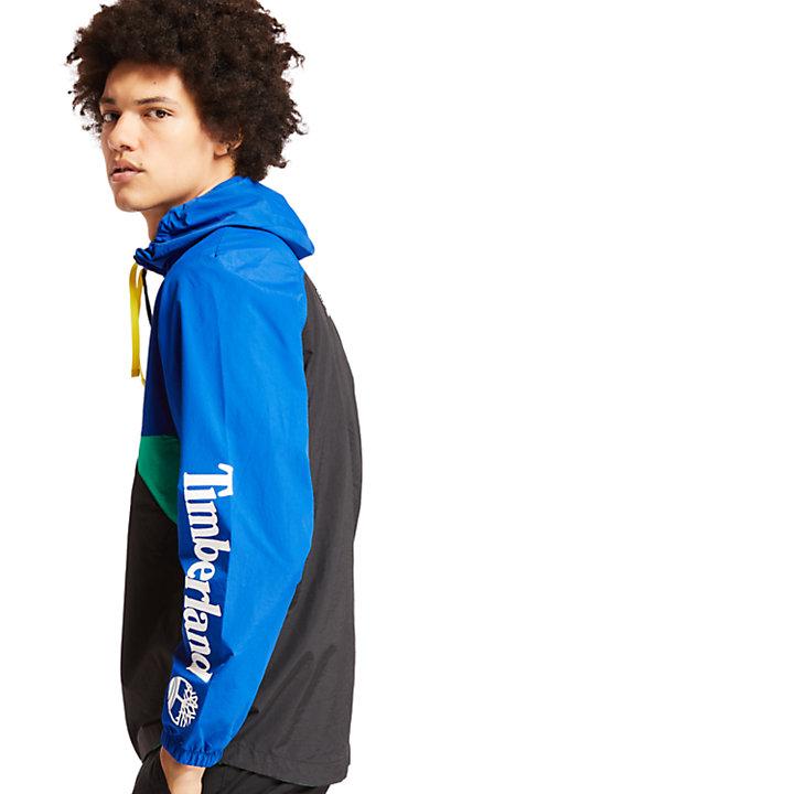 Coupe-vent zippé pour homme en bleu-