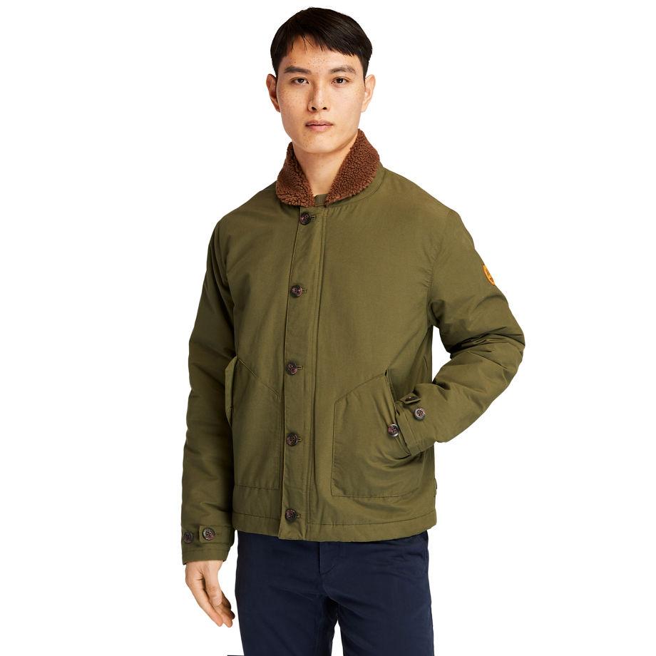 Timberland Mount Kelsey N1 Deck Jacket For Men In Dark Green Dark Green, Size S